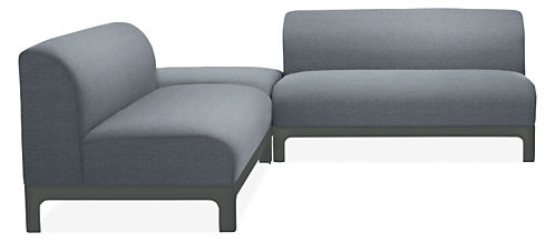 """Crescent 96x96"""" Three-Piece Sectional"""