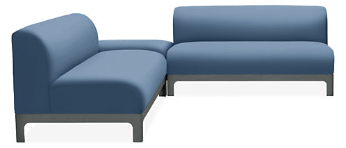 """Crescent 108x96"""" Three-Piece Sectional"""