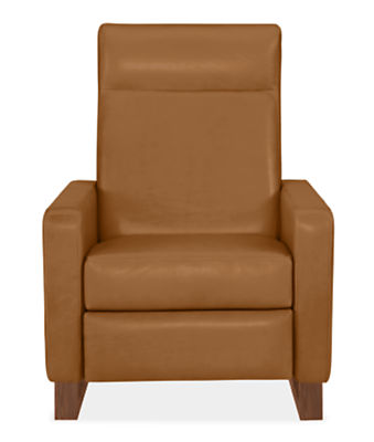 Dalton Recliners with Walnut Legs in Lecco Leather - Modern ...