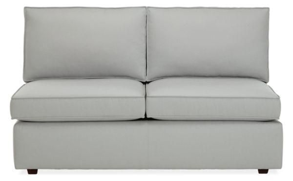 """Damon Custom 54"""" Armless Sofa"""