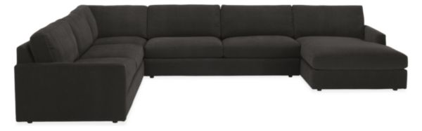 "Easton Custom 149x103"" Four-Piece Sectional with Left-Arm Chaise"