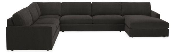 "Easton Custom 149x103"" Four-Piece Sectional with Left-Arm Chaise"