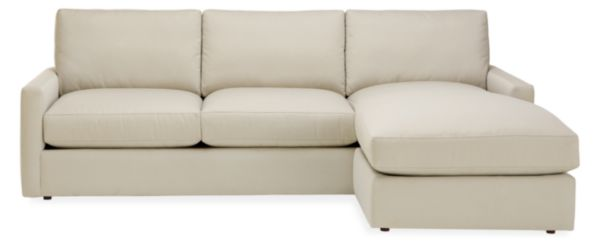"Easton Custom 91"" Sofa with Reversible Chaise"