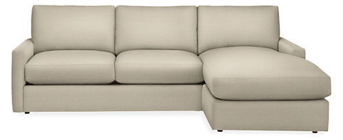 "Easton Custom 91"" Sofa with Reversible Chaise"