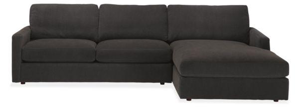 """Easton Custom 106"""" Sofa with Left-Arm Chaise"""