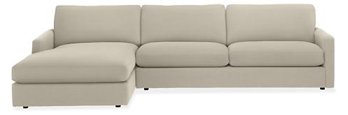"Easton 116"" Sofa with Left-Arm Chaise"