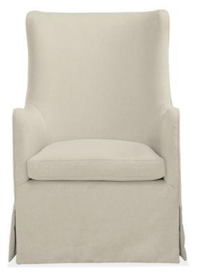 ellery swivel glider chair & ottoman in dawson - modern rockers