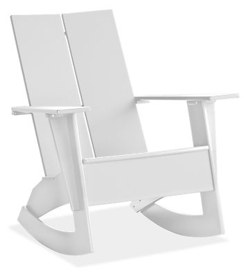 emmet outdoor rocker modern outdoor chairs chaises modern