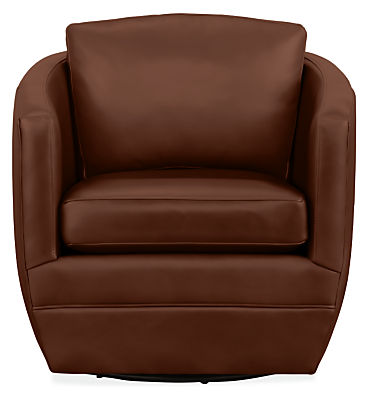Ford Leather Swivel Chair - Swivel Chairs - Modern Living Room ...