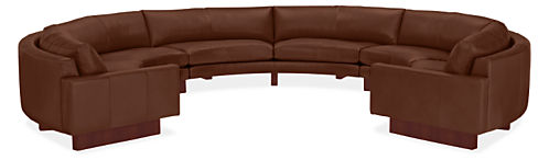 "Hess 169x148"" Three-Piece Round Sectional"
