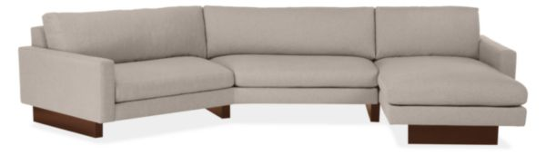 "Hess Custom 137x68"" Sectional w/Right-Arm Wedge & Left-Arm Chaise"