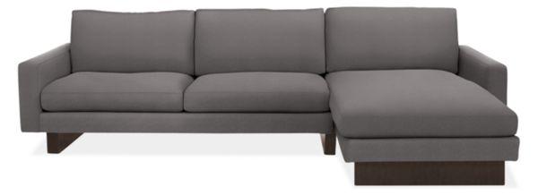 """Hess Custom 104"""" Sofa with Left-Arm Chaise"""