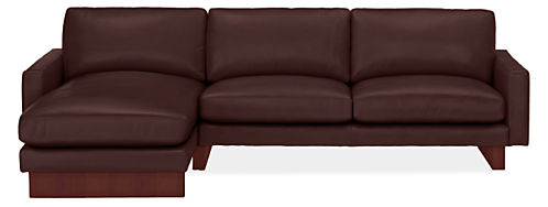 Hess Leather Sofas with Chaise