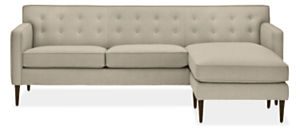 "Holmes Custom 89"" Sofa with Reversible Chaise"