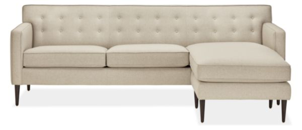 """Holmes Custom 89"""" Sofa with Reversible Chaise"""