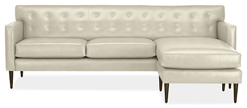 "Holmes Custom 89"" Sofa with Right-Arm Chaise"