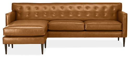 Holmes Leather Sofa with Chaise