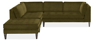 """Hutton 110x106"""" 3-Piece Sectional with Right-Arm Sofa"""