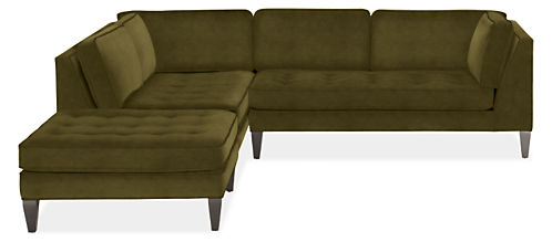 "Hutton 110""x106"" 3-Piece Sectional with Right-Arm Sofa"