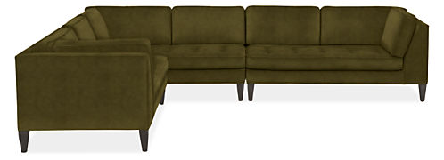 "Hutton 140x110"" 3-Piece Sectional with Right-Arm Sofa"