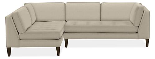 """Hutton Custom 110"""" Sofa with Left-Arm Chaise"""