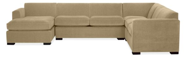 "Ian 137x106"" Four-Piece Sectional with Left-Arm Chaise"