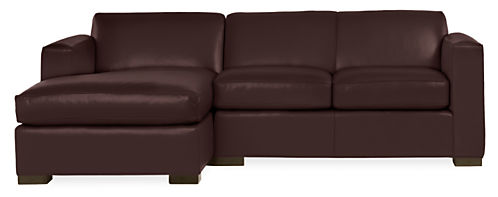 Ian Leather Sofas with Chaise - Modern Chaise Sofas - Modern Living ...