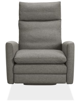 Isaac Custom Select Recliner Curved-Arm with Wood Base