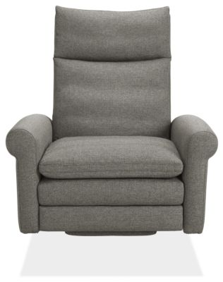 Isaac Custom Select Recliner Rolled-Arm with Metal Base