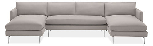 "Janus 142x72"" Three-Piece U-Shaped Sectional"