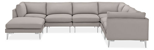 "Janus 138x106"" Seven-Piece Modular Sectional with Ottoman"