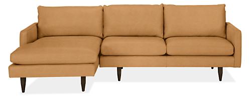 "Jasper Custom 104"" Sofa with Left-Arm Chaise"