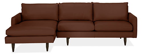 Jasper Leather Sofa with Chaise