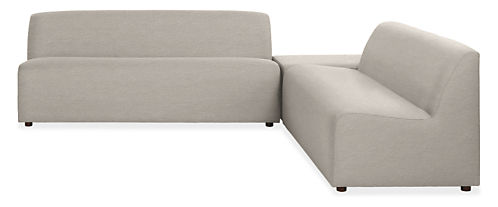"Laguna 100x100"" Three-Piece Sectional with Ottoman"