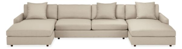 "Linger Custom 152x72"" Three-Piece U-Shaped Sectional"