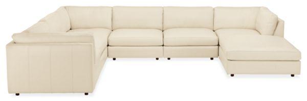 "Linger Custom 158x122"" Seven-Piece Modular Sectional with Ottoman"