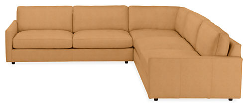 "Linger Custom 119x119"" Three-Piece Sectional"