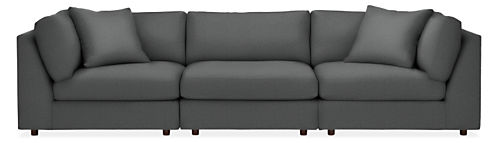 "Linger 122"" Three-Piece Modular Sofa"