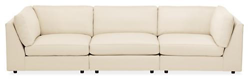 "Linger Custom 122"" Three-Piece Modular Sofa"