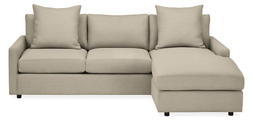 "Linger Custom 91"" Sofa with Reversible Chaise"