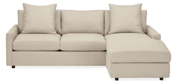 """Linger 91"""" Sofa with Reversible Chaise"""