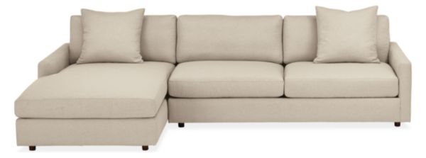 "Linger Custom 116"" Sofa with Left-Arm Chaise"
