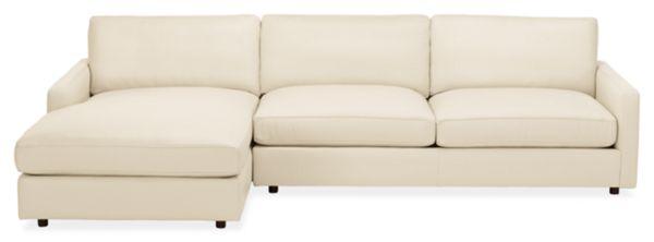 "Linger Custom 116"" Sofa with Left-Arm Chaise"