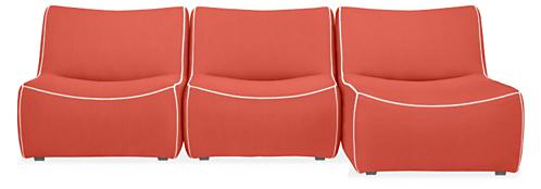 "Maya 108"" Three-Piece Modular Sofa with Chaise"