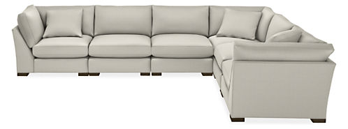 "Mayer 158x122"" Six-Piece Modular Sectional"