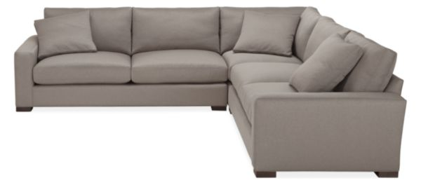 "Mayer Custom 123x123"" Three-Piece L-Shaped Sectional"