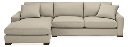 "Mayer Custom 124"" Sofa with Left-Arm Chaise"