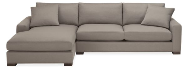 """Mayer 124"""" Sofa with Left-Arm Chaise"""