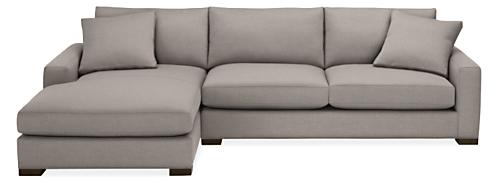 "Mayer Custom 124"" Sofa with Left-Arm Chaise"