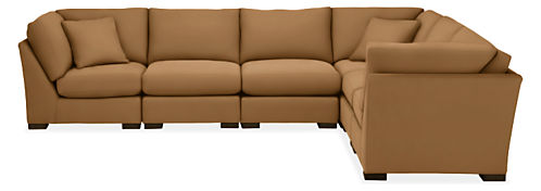 "Metro 138x107"" Six-Piece Modular Sectional"